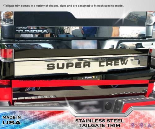 """Stainless Steel 2 7//8/"""" Wide Tailgate Trim 1PC Fits Toyota Tundra  14-16"""