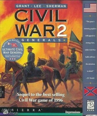 CIVIL WAR GENERALS 2 +1Clk Windows 10 8 7 Vista XP Install