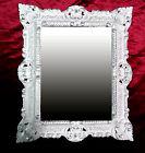 Espejo de Pared Repro 45x38cm ANTIGUO Barroco Réplicas Rectangular Plata 345 12