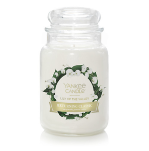 ☆☆LILY OF THE VALLEY☆☆ LARGE YANKEE CANDLE JAR~FREE SHIPPING☆☆FLORAL SCENT