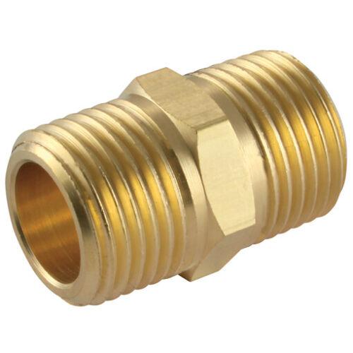 "1.1//4/"" bspt laiton mâle hex nipple brass air line adaptateurs seals /& ruban UP1-114"