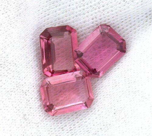 ONE 8x6 8mm x 6mm Emerald AAA Natural Pink Tourmaline Gem Stone Gemstone EBS3017