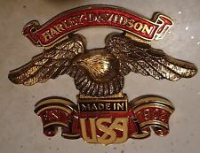 Vintage 1970's/80's Harley Davidson Emblem Est 1903 Made in USA w Eagle Badge