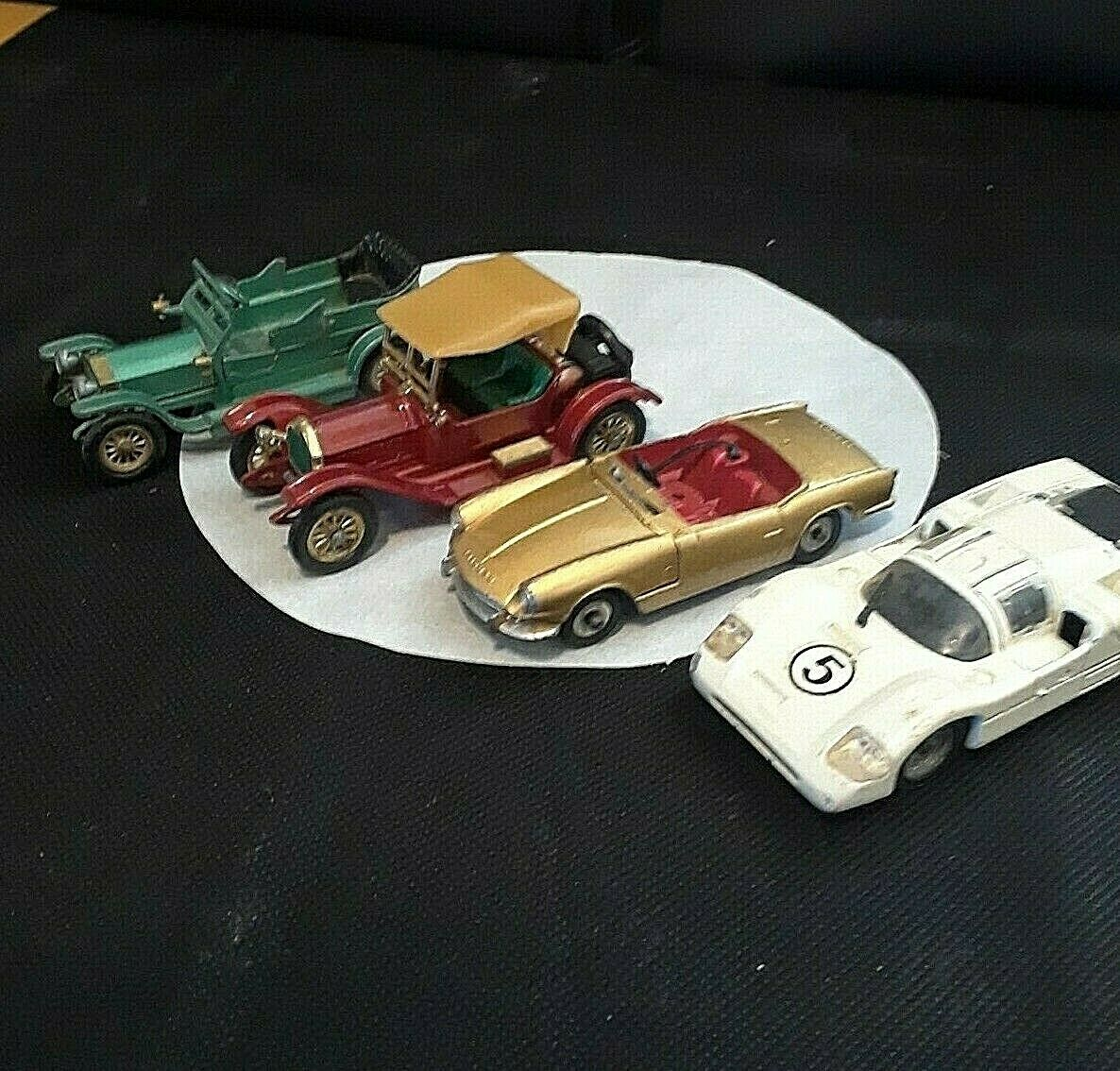 VNTG Toy Cars 1914 Stutz 1907 Rolls Royce  Chapparal Made in ENGLAND & FRANCE