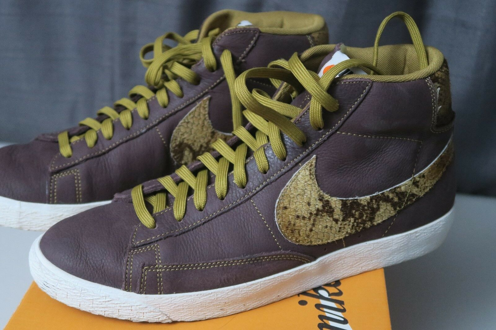 Nike Blazer Mid Premium Vintage VNTG QS Mahogany Sail 638322-200 Size 10.5