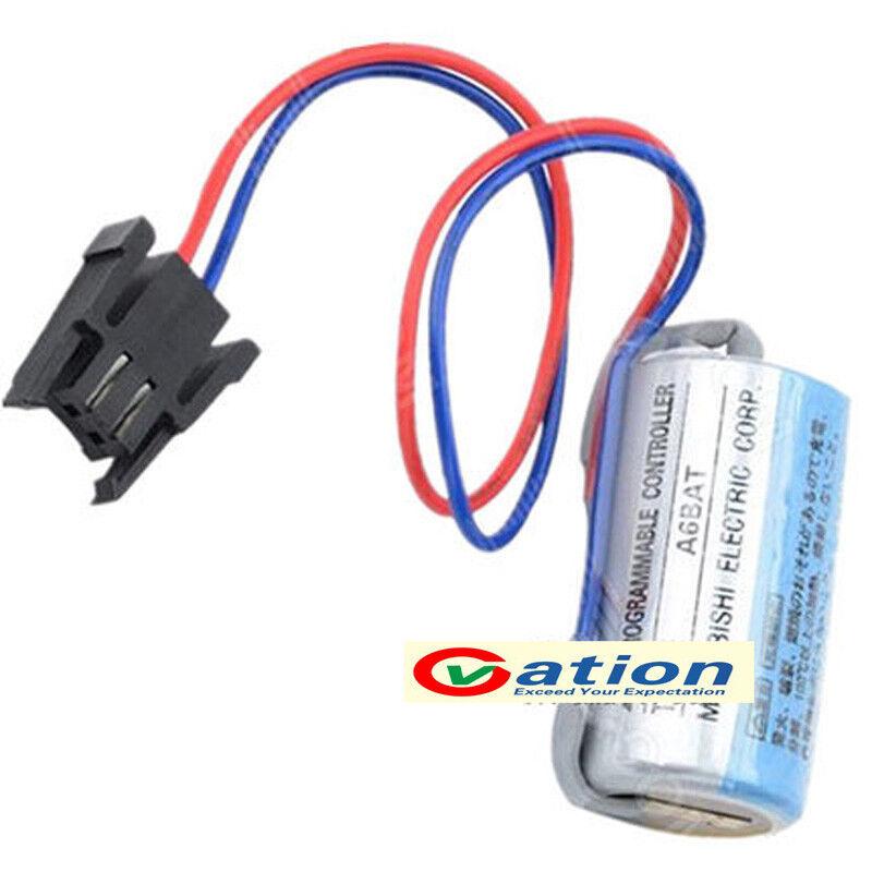 Mitsubishi A6BAT ER17330V PLC 3.6V 2000mAh Li-Ion Batteria Industriale con Spina