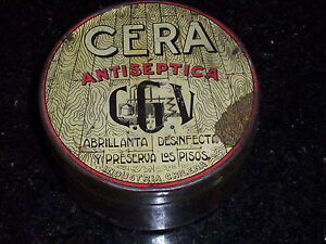Antique CERA Antiseptic round Tin - Industria Chilena