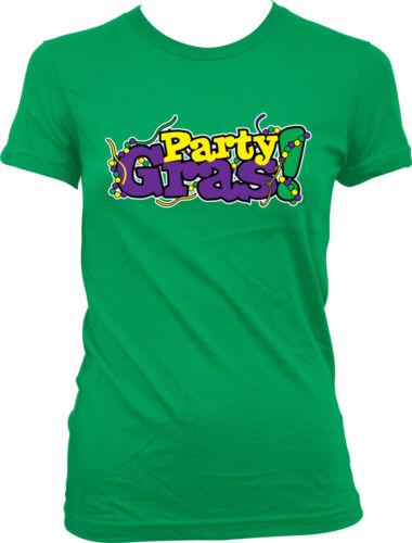 Party Mardi Gras Show Me Throw New Orleans Boobs Booze NEW JUNIORS//GIRLS T-SHIRT
