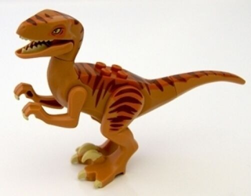 LEGO DINO - Raptor with Dark Orange and Dark braun Back