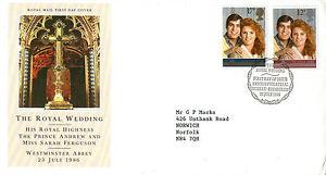 22-JULY-1986-ROYAL-WEDDING-ROYAL-MAIL-FIRST-DAY-COVER-BUREAU-SHS