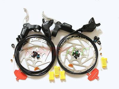Shimano MTB BR-M535 Hydraulic Disc Brake/Lever Front & Rear & 160mm Rotor Set