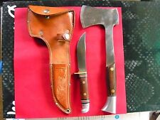 VINTAGE WESTERN KNIFE AXE COMBO SET
