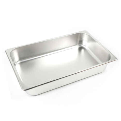 """6 PACK Full Size 4/"""" Deep Stainless Steel Steam Prep Table Hotel Buffet Food Pan"""