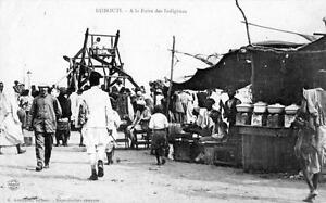 CPA-DJIBOUTI-A-LA-FOIRE-DES-INDIGENES-dos-non-divise-BELLE-CPA-JEUX-DE-FOIRE