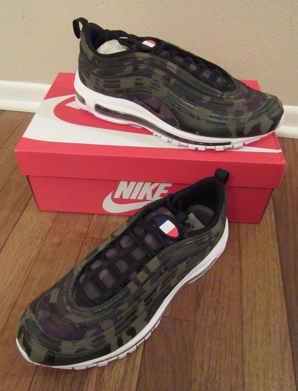 Nike Air Max 97 Premium QS FRANCE Size 11 Medium Olive Black Army AJ2614 200 NIB