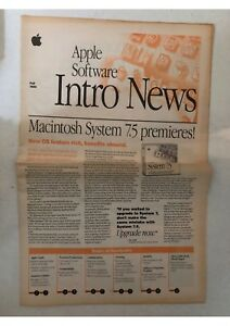 Details about Apple Software Intro News Fall 1994 Macintosh System 7 5  magazine retro brochure