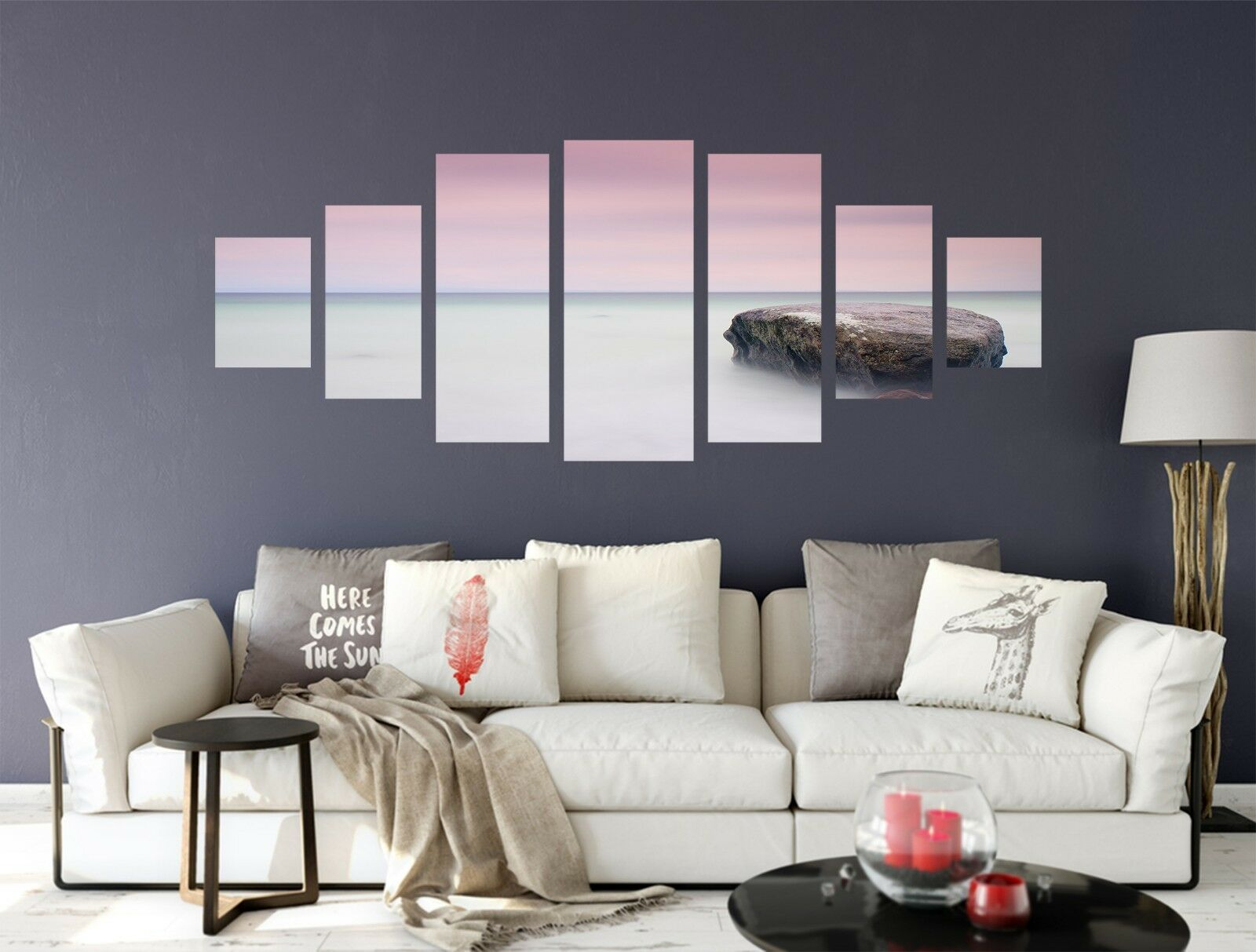 3D Coast Stone 567 Unframed Print Wall Paper Decal Wall Deco Indoor AJ Wall