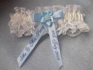 PERSONALISED-BLUE-AND-IVORY-WEDDING-GARTER-PLUS-SIZE-LARGE