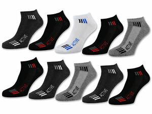 10-PARES-HOMBRE-Zapatillas-calcetines-sport-Algodon-de-deporte