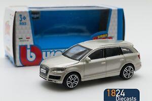AUDI-Q7-in-oro-Bburago-Scala-18-30229-1-43-modello-Auto-Giocattolo-Regalo-Ragazzo