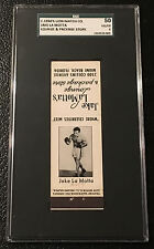 Jake LaMotta 1956 SGC 50 Graded Matchcover Lounge Store Matches Matchbook 1957