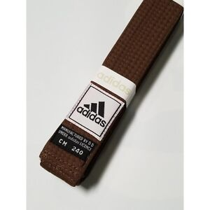 New adidas Taekwondo Karate Belt Martial Arts Judo Jiu-Jitsu Belt Cotton-BROWN