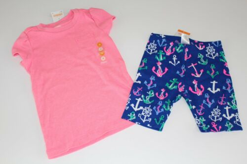 Gymboree Stripes /& Anchor T-Shirt Top Shirt Girls Girl Size 5 Bike Shorts NWT