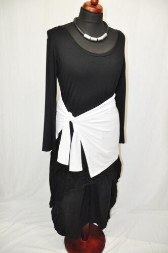 Designer-LAGENLOOK Jersey-Binde-Cacheur Blender Hüftmogler weiß
