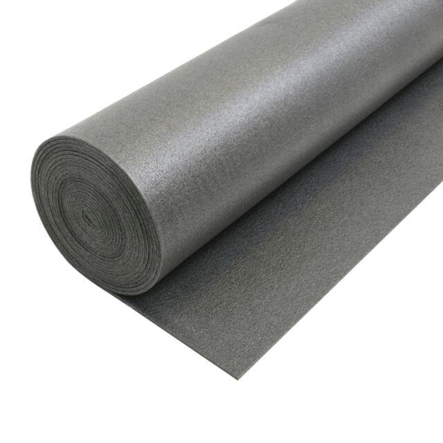 14.4m² Carpet Underlay - Graphite - Brand New PE Foam, Quality Flooring CHEAP