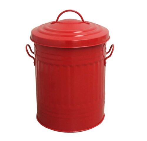 30 L Litres Galvanisé Métal Poubelle Rubbish Waste Poubelle animale de conservation Trash