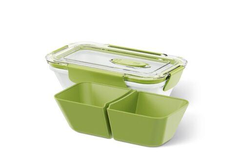 Emsa BENTO BOX Lunchbox Speisegefäß Mikrowellentopf rechteckig 0,5l mit Einsätze