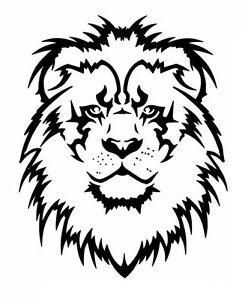high detail airbrush stencil lion face free uk postage ebay rh ebay es stencil leon gto