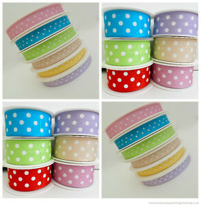 3-x-metres-gorgeous-spotty-grosgrain-ribbon-pink-lilac-or-turquoise-10mm