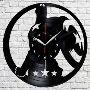 Details about Captain America Vinyl Record Wall Clock Fan Art Home Decor  12