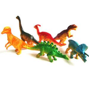 Pack de 6 Enfants Assortiment De Dinosaures en PVC Jouet JURASSIC figures