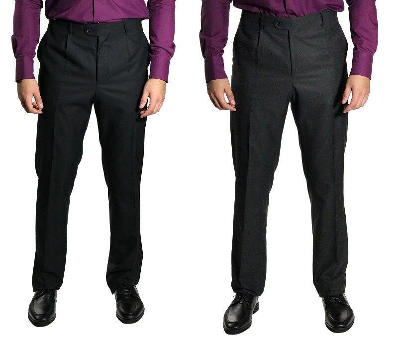 Klassische Herren Bundfaltenhose Farbe & Größe Wählbar
