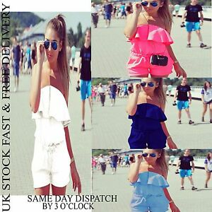UK-Womens-Off-Shoulder-Holiday-Playsuit-Summer-Ladies-Jumpsuit-Beach-Vincenza