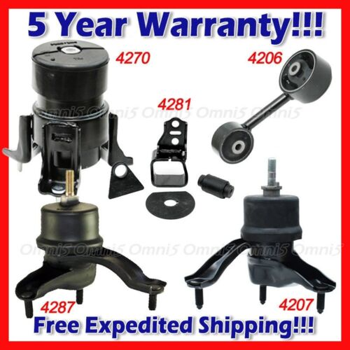 L857 For 2001-2003 Toyota Highlander 3.0L 2WD Engine Motor /& Trans Mount Set 5pc