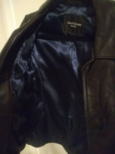 York Jacket Jacob Lambskin Hand Tailored New Stevens Leather waExZ64