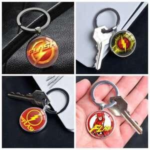 Comic-Superhero-The-Flash-Logo-Silver-Keychain-Keyring-Pendants-Keychains-Gifts