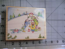 "Stamps Happen Used Wood mounted Rubber Stamp ""I Love That Snowman"" Claire Stoner"