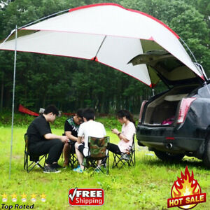 Waterproof Awning Car SUV Roof Tent Portable Sun Shelter Outdoor Camping  HQ