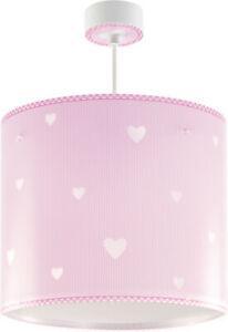 Details zu Kinderzimmer-Lampe Mädchen 62012s Herz Hänge-lampe Rosa