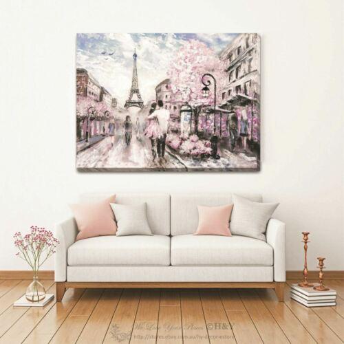 Paris Romance Stretched Canvas Art Print Framed Home Wall Office Decor Art L85