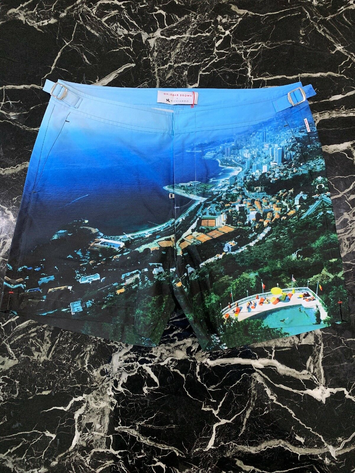 Limited Edition Orlebar Brown Bulldog RICCIARDO Swim Shorts, Size 33