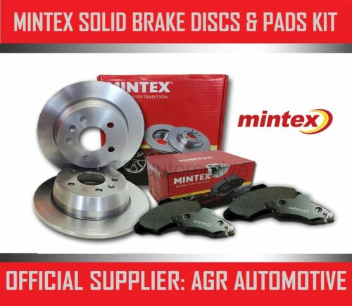 MINTEX REAR DISCS AND PADS 288mm FOR VOLVO S60 2.4 TURBO T5 2005-07