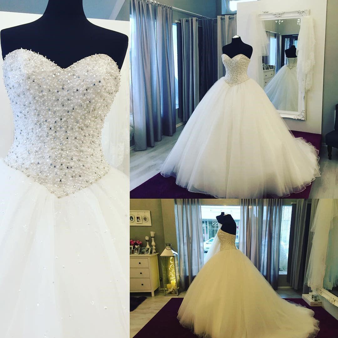 white Elfenbein A-Linie Organza Brautkleider Hochzeitskleid Abendkleid Ballkleid