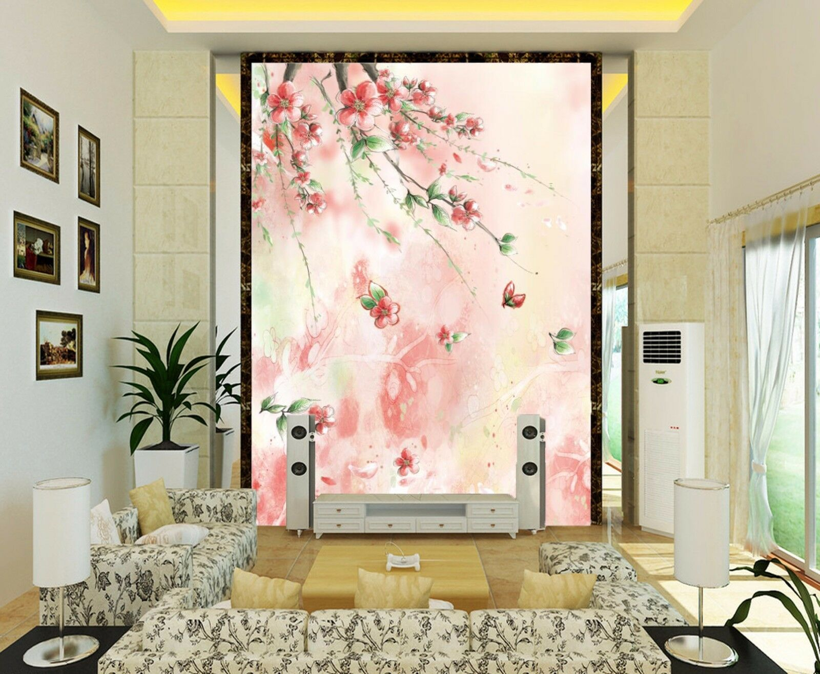 3D Flying Flowers 199 WallPaper Murals Wall Print Decal Wall Deco AJ WALLPAPER