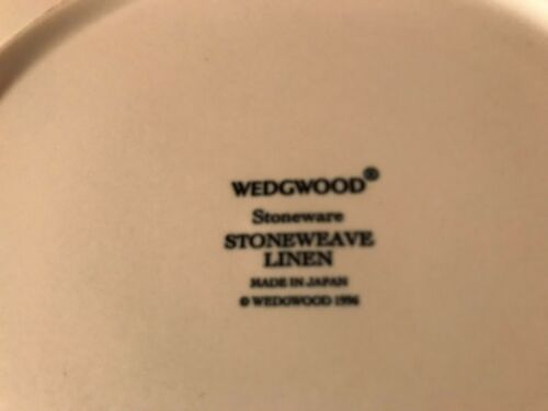 WEDGWOOD Stoneware  STONEWEAVE LINEN SALAD PLATE//S 12 Available
