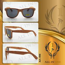 OCCHIALI DA SOLE sunglasses simil LEGNO wood UOMO DONNA UNISEX wayfarer ART. 098